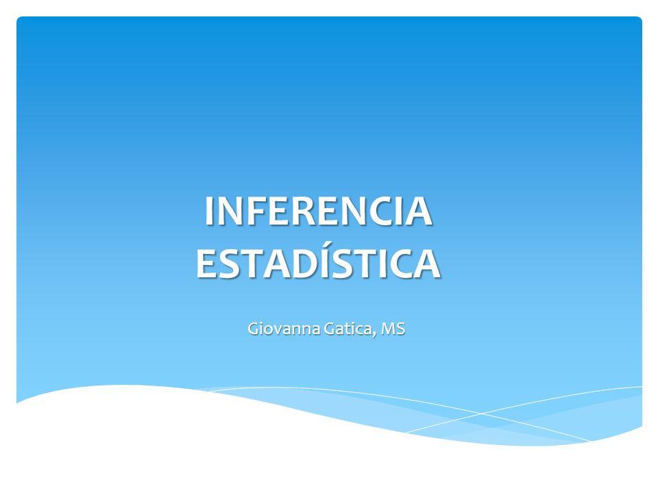 INFERENCIA ESTADÍSTICA Giovanna Gatica, MS