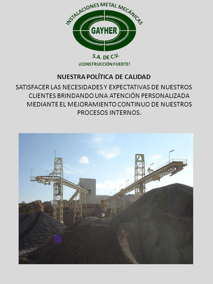 PROYECTOS MINERA DEL NORTE S.A.COMPAÑÍA REAL DEL MONTE Y PACHUCA.