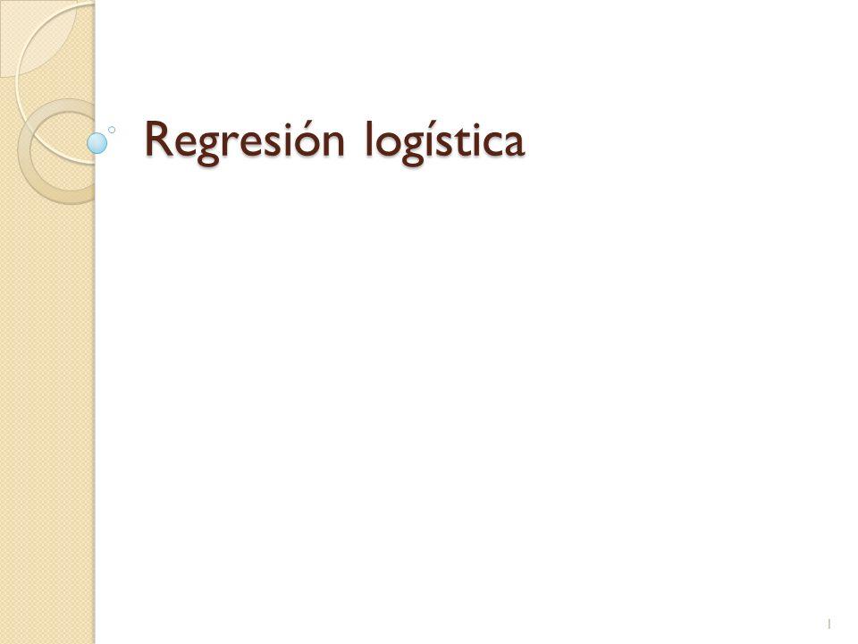 Regresión logística – paso a paso La gráfica de probabilidades vs peso es: 22 La probabilidad de pulso bajo es mayor para los no fumadores vs los fumadores y en ambos aumenta conforme aumenta el peso.