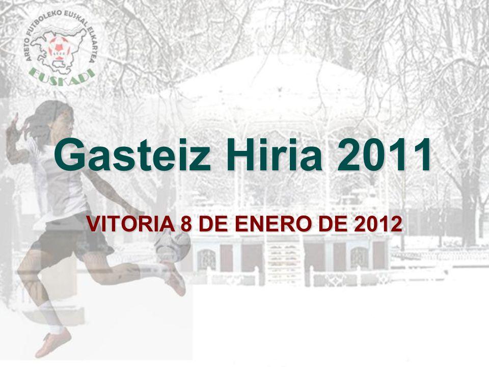 Gasteiz Hiria 2011 VITORIA 8 DE ENERO DE 2012