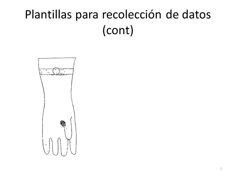 7 Plantillas para recolección de datos (cont)
