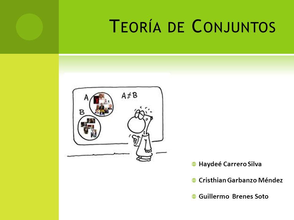 T EORÍA DE C ONJUNTOS Es una rama de las matemáticas que estudia las propiedades de los conjuntos.