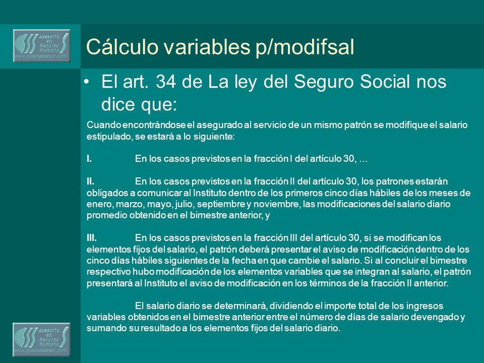 Cálculo variables p/modifsal El art.