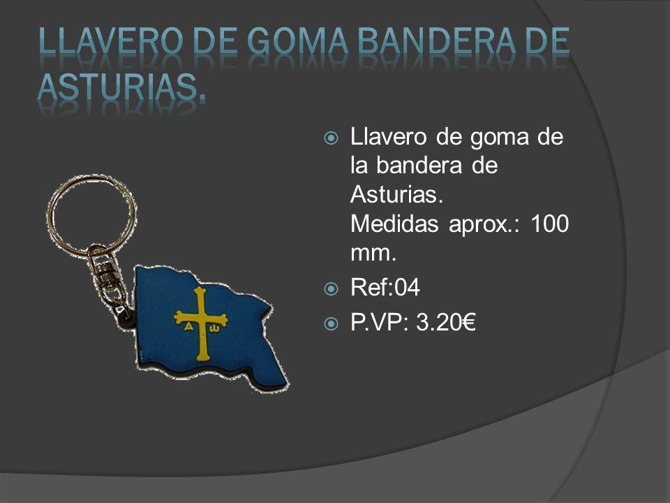 Llavero de goma de la bandera de Asturias. Medidas aprox.: 100 mm. Ref:04 P.VP: 3.20