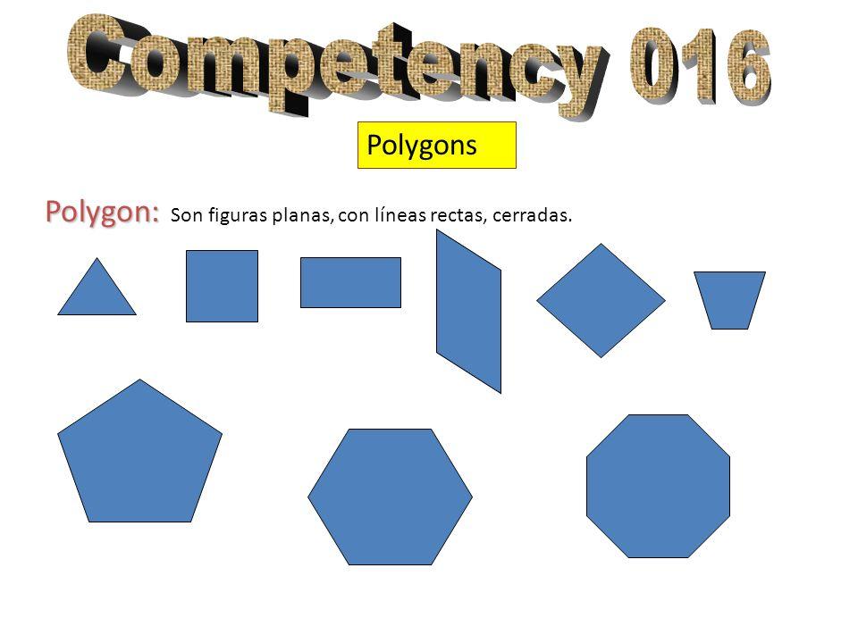 Polygons Polygon: Polygon: Son figuras planas, con líneas rectas, cerradas.