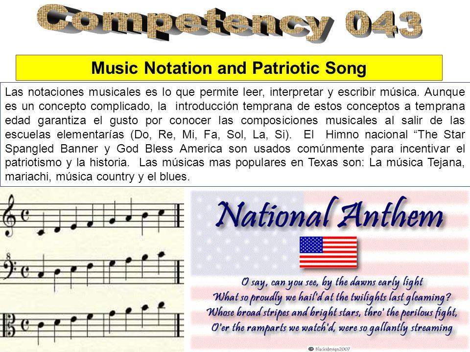 Music Notation and Patriotic Song Las notaciones musicales es lo que permite leer, interpretar y escribir música. Aunque es un concepto complicado, la