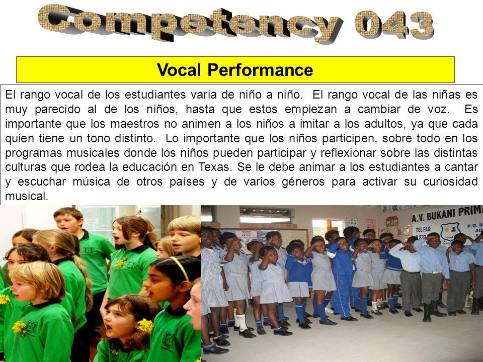El rango vocal de los estudiantes varia de niño a niño. El rango vocal de las niñas es muy parecido al de los niños, hasta que estos empiezan a cambia