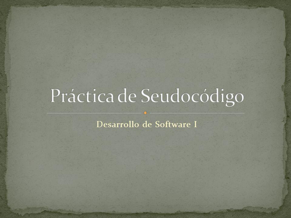 Desarrollo de Software I