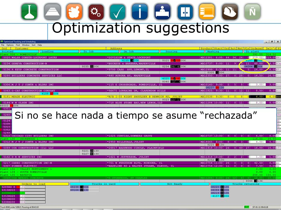 Si no se hace nada a tiempo se asume rechazada Optimization suggestions