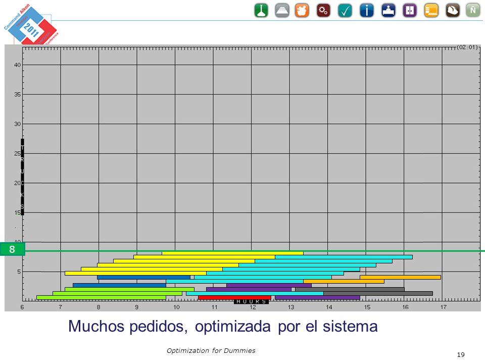 Optimization for Dummies 19 Muchos pedidos, optimizada por el sistema 8