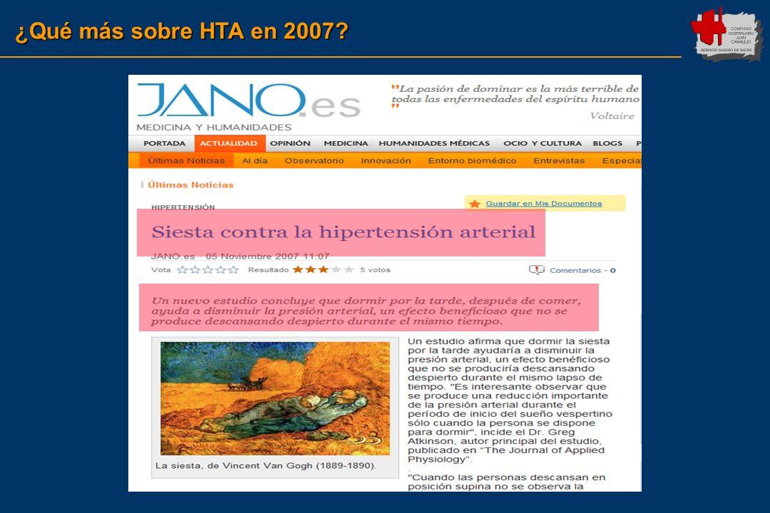 ¿Qué más sobre HTA en 2007?