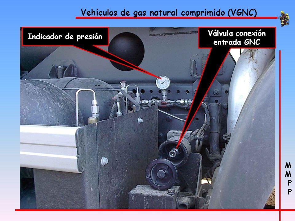 M P M P Vehículos de gas natural comprimido (VGNC) 8 depósitos de 80/140 litros cada uno a una presión de 200 bares