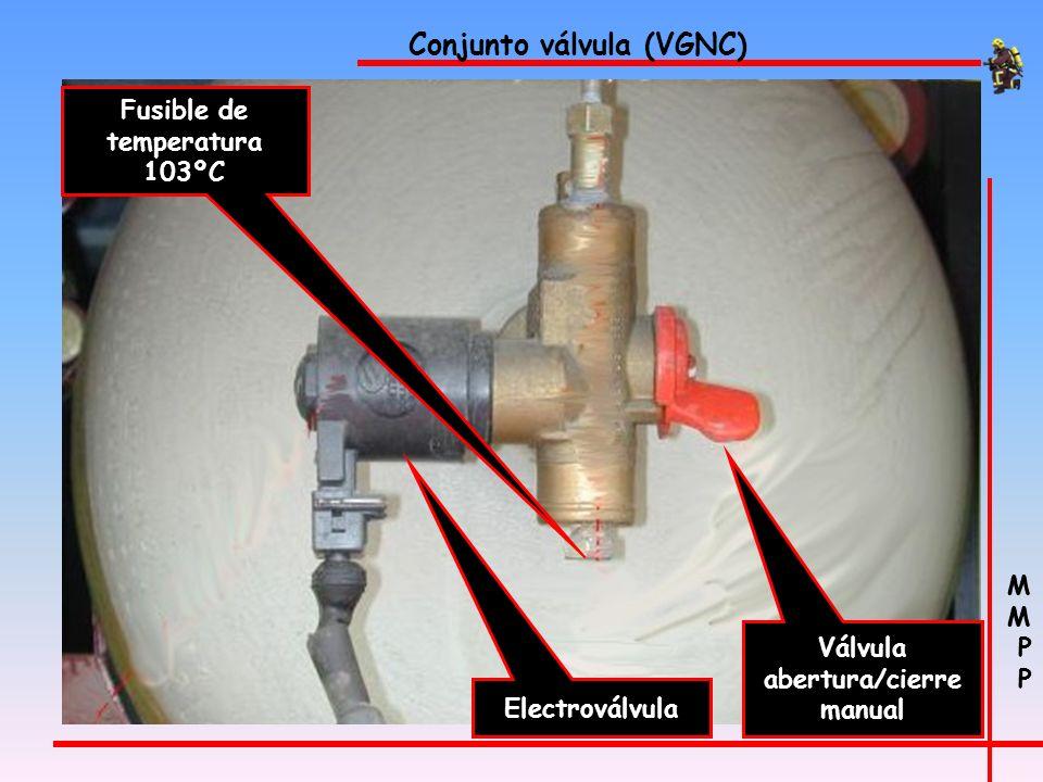 M P M P Vehículos de gas natural comprimido (VGNC) Válvula conexión entrada GNC Indicador de presión