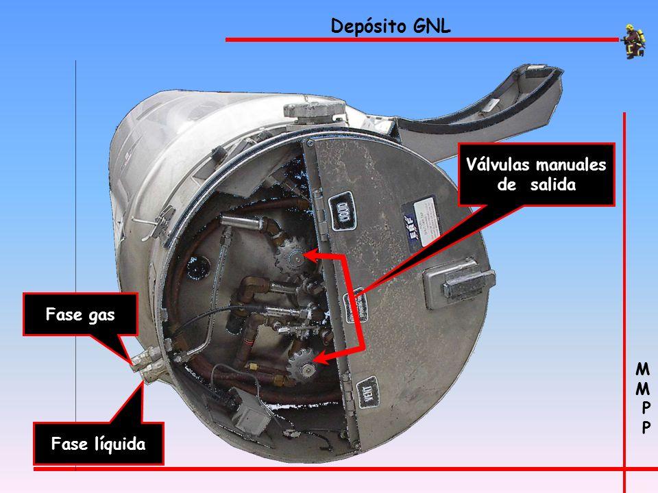 M P M P Depósito de gas natural licuado con una capacidad de 250 l Vehículos dual-fuel (VGNL)