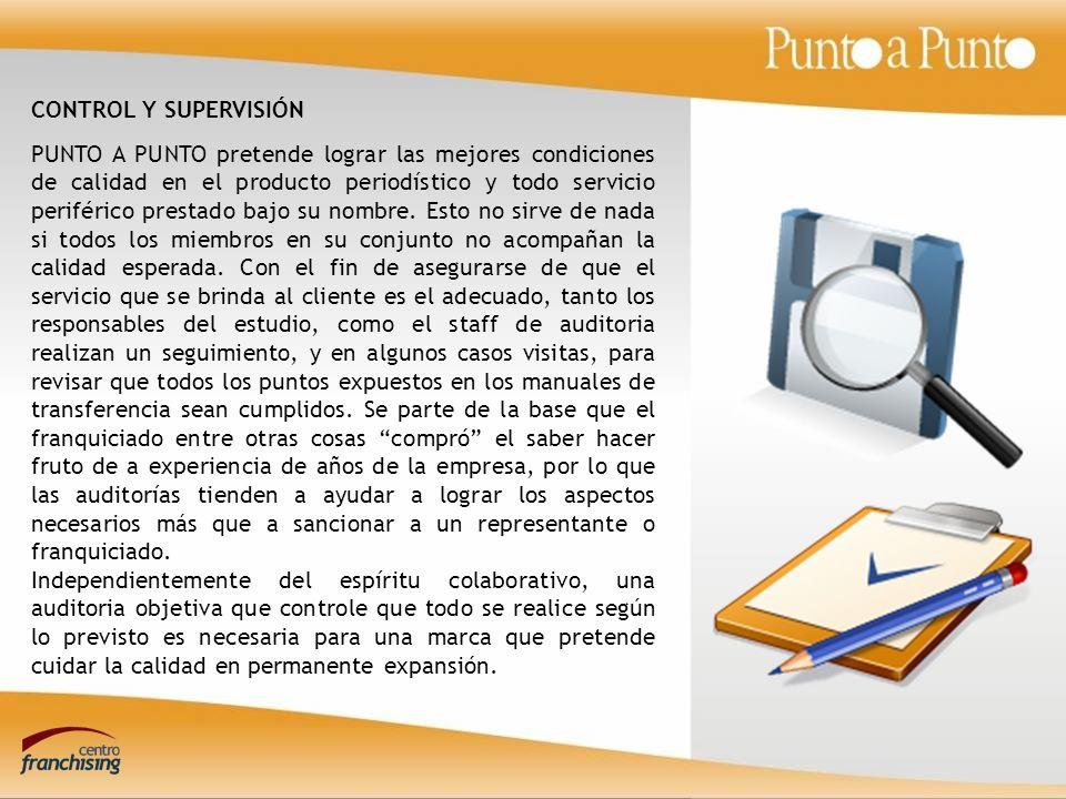 PUNTO A PUNTO pretende lograr las mejores condiciones de calidad en el producto periodístico y todo servicio periférico prestado bajo su nombre.