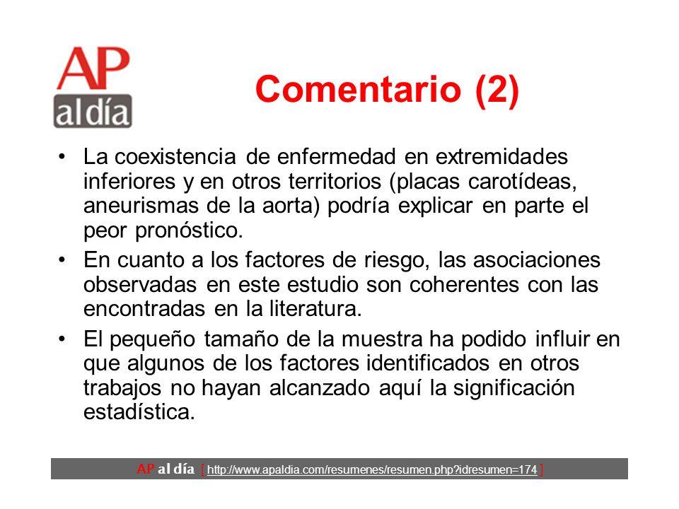 AP al día [ http://www.apaldia.com/resumenes/resumen.php idresumen=174 ] Comentario (1) En varios estudios se ha demostrado que la coexistencia de EVP en pacientes con cardiopatía isquémica ensombrece el pronóstico de los pacientes.