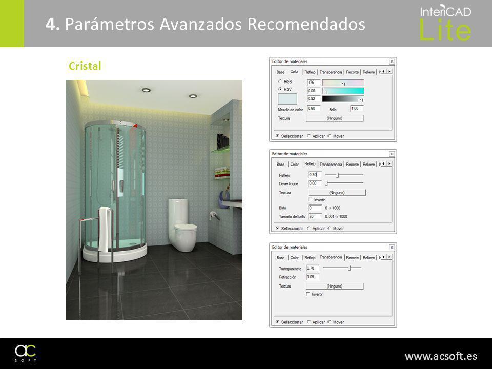 www.acsoft.es 4. Parámetros Avanzados Recomendados Cristal