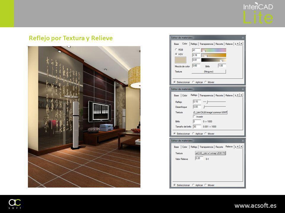 www.acsoft.es Reflejo por Textura y Relieve