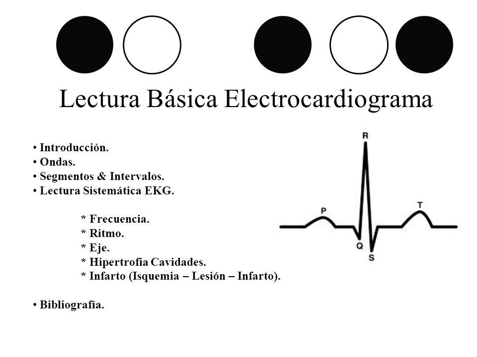 Lectura Básica Electrocardiograma Introducción. Ondas. Segmentos & Intervalos. Lectura Sistemática EKG. * Frecuencia. * Ritmo. * Eje. * Hipertrofia Ca