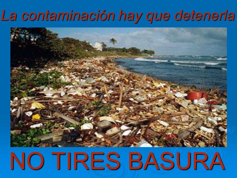 La contaminación hay que detenerla NO TIRES BASURA