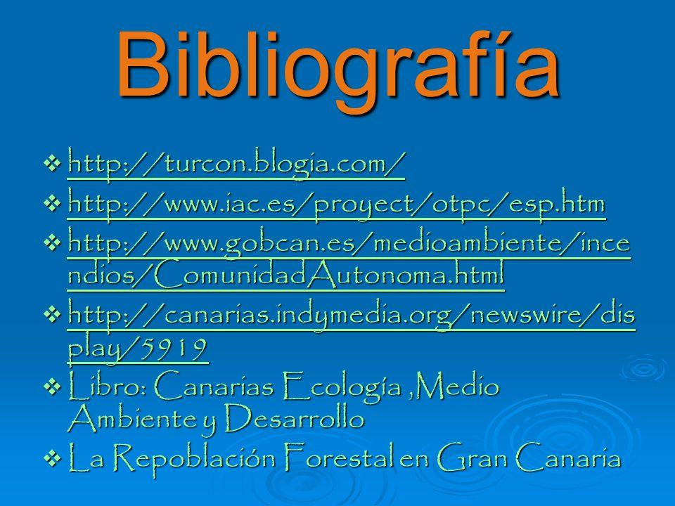 Bibliografía http://turcon.blogia.com/ http://turcon.blogia.com/ http://turcon.blogia.com/ http://www.iac.es/proyect/otpc/esp.htm http://www.iac.es/pr