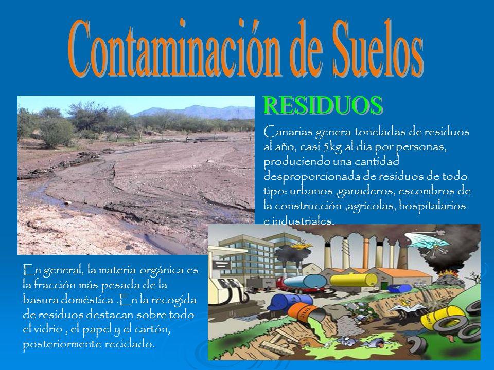 Canarias genera toneladas de residuos al año, casi 5kg al día por personas, produciendo una cantidad desproporcionada de residuos de todo tipo: urbano