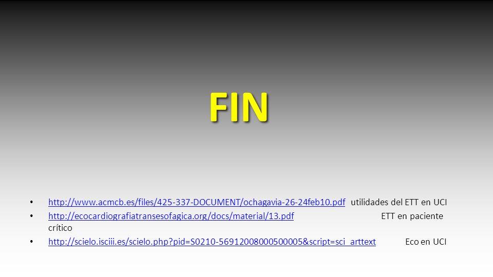 FIN http://www.acmcb.es/files/425-337-DOCUMENT/ochagavia-26-24feb10.pdf utilidades del ETT en UCI http://www.acmcb.es/files/425-337-DOCUMENT/ochagavia