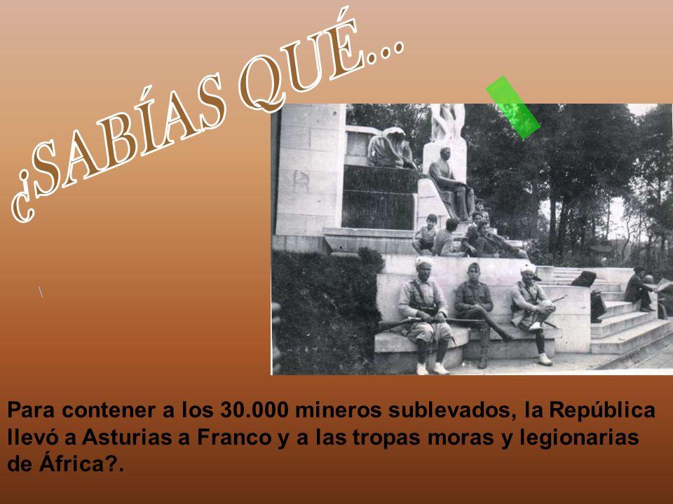 aquella revolución socialista contra la República provocó muertes en 26 provincias españolas, pero sobre todo en Asturias con un total de 1330 muertos