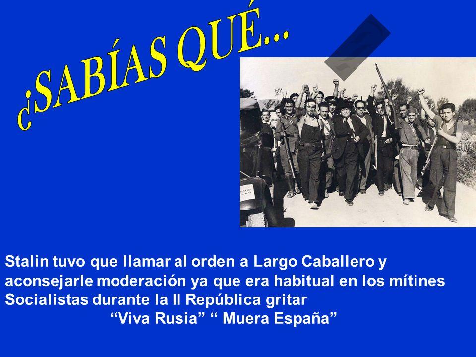 Largo Caballero, presidente del Gobierno y del P$O durante los años 1936-1937 no se ruborizó al asegurar que a él no le importaba que en Madrid se hun