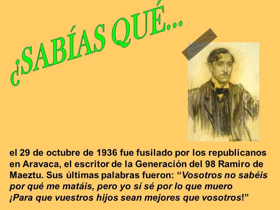 el 28 de noviembre de 1936 fue fusilado por los socialistas en Paracuellos del Jarama, junto a varios miles más, el genial escritor y humorista Pedro