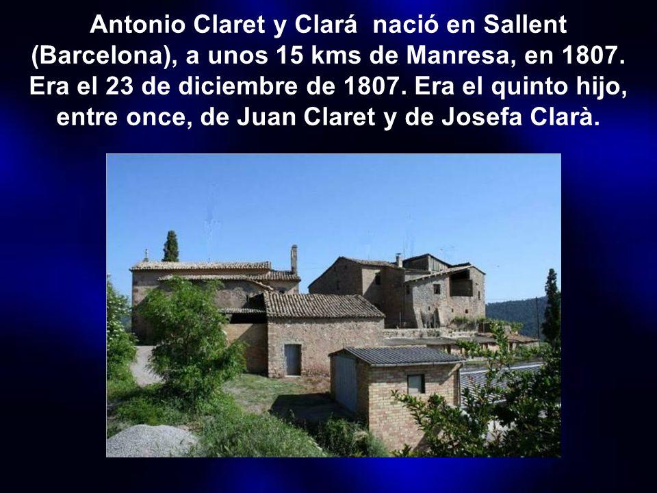 San Antonio María Claret es el funda- dor de la congrega- ción de Hijos del Inmaculado Corazón de María, llamados también claretianos. También fundó c