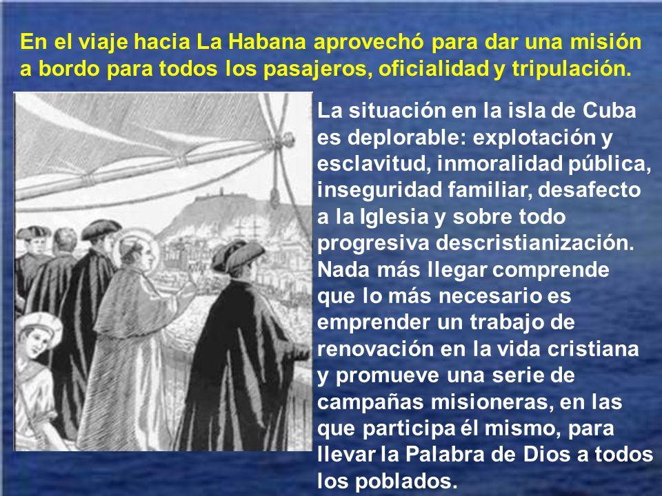 En el puerto de Barcelona un inmenso gentío despidió al Arzobispo Claret con una apoteósica manifestación.