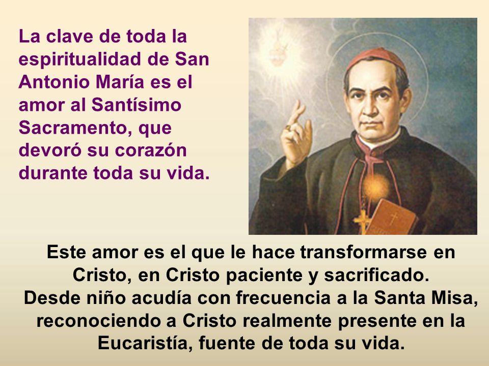 En su proceso de maduración espiritual san Antonio María Claret va descubriendo la llamada de Dios que le invita a una comunión más profunda con Él y