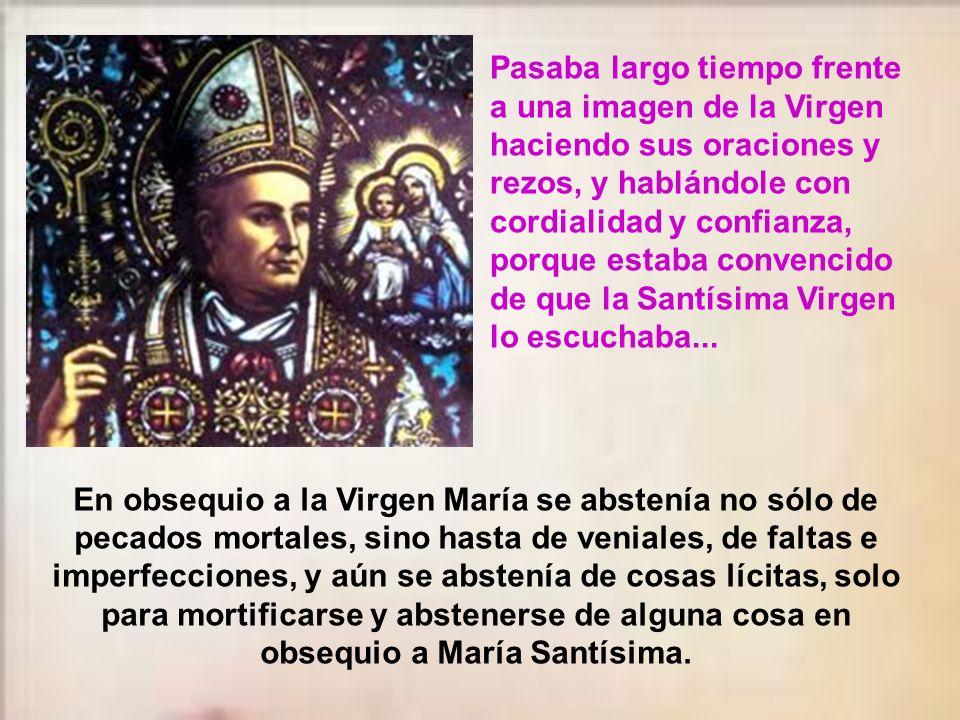 Desde niño, la devoción y el amor a la Santísima Virgen marcaron la vida de San Antonio. La Virgen Santísima era para él la estrella que le guiaba en