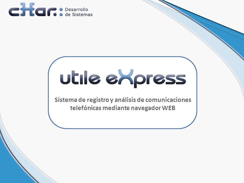 Sistema de registro y análisis de comunicaciones telefónicas mediante navegador WEB