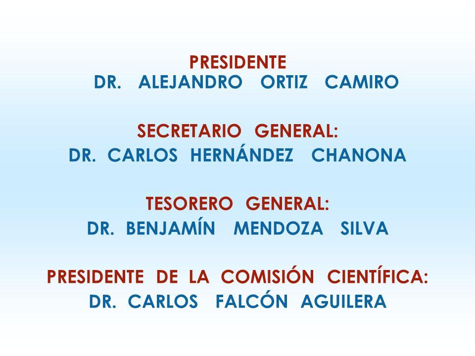 PRESIDENTE DR.ALEJANDRO ORTIZ CAMIRO SECRETARIO GENERAL: DR.