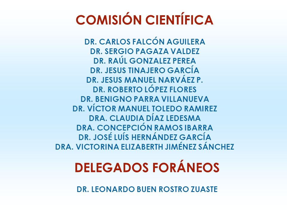 COMITÉ ORGANIZADOR DR. ALEJANDRO ORTIZ CAMIRO PRESIDENTE DR.