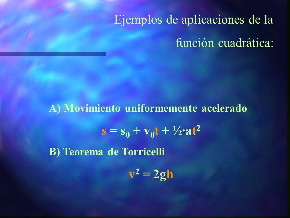 Si el coeficiente del término de mayor grado es negativo, las ramas infinitas de la parábola se dirigen hacia abajo: y = - 3x 2 + x - 2 y = - 3x 2 – x
