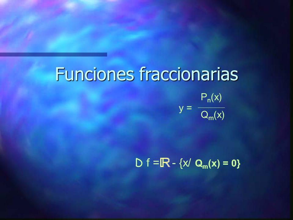 Funciones cuárticas: y = ax 4 + bx 3 + cx 2 + dx + e y = (x +1)x(x - 1)(x -2) = x 4 - 2x 3 - x 2 + 2x D f =