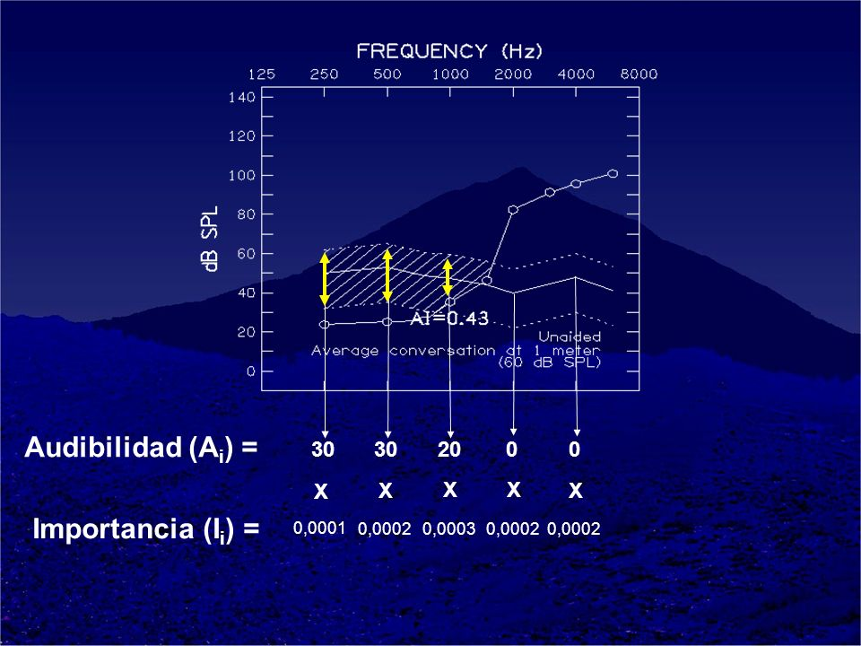 30 2000 X X X X X 0,0001 0,00020,00030,0002 Audibilidad (A i ) = Importancia (I i ) =