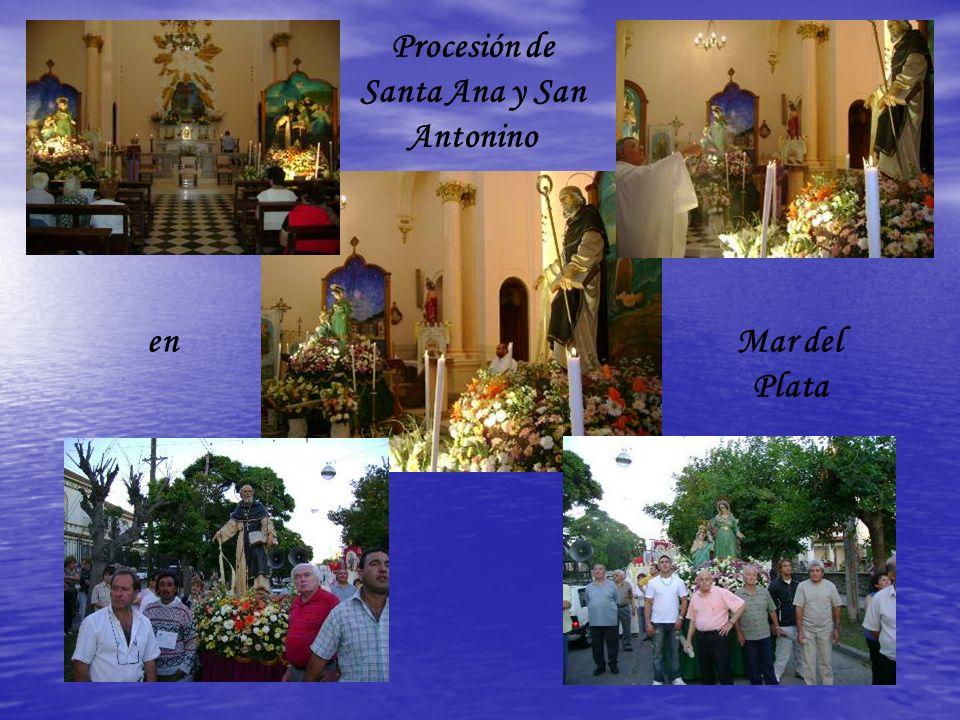 Procesión de Santa Ana y San Antonino enMar del Plata
