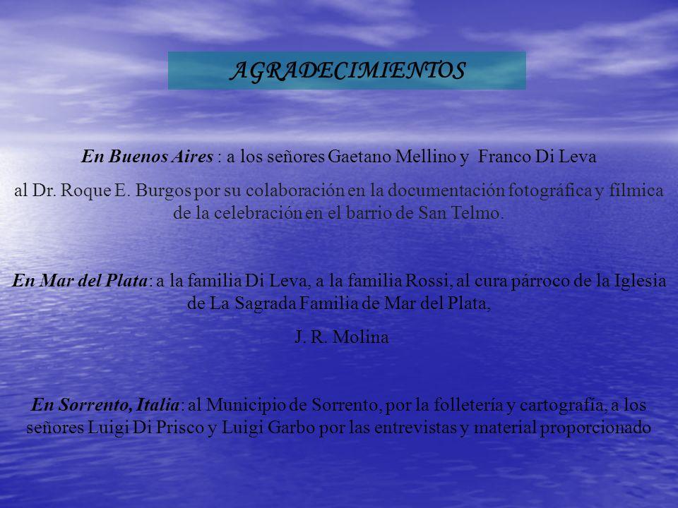En Buenos Aires : a los señores Gaetano Mellino y Franco Di Leva al Dr.