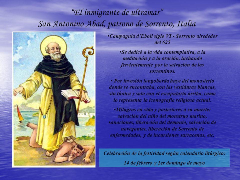 Campagnia dEboli siglo VI - Sorrento alrededor del 625 Se dedicó a la vida contemplativa, a la meditación y a la oración, luchando fervientemente por la salvación de los sorrentinos.