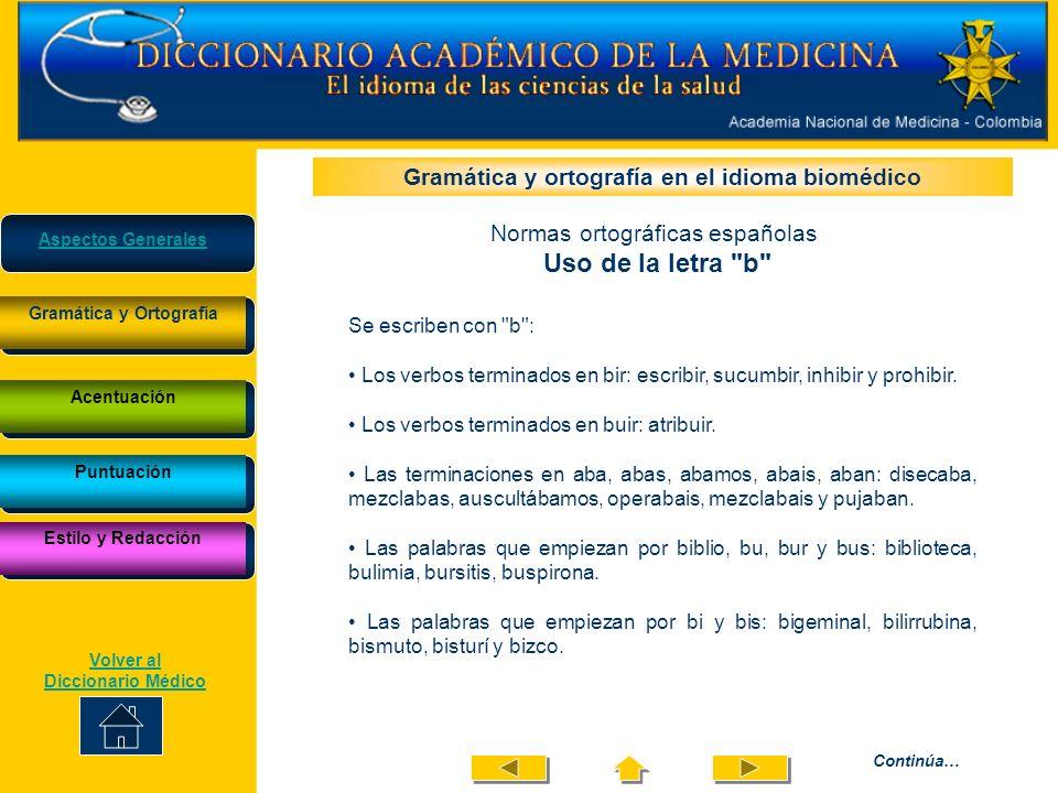 Las palabras que contienen el elemento bio: biología, biopsia, anaerobio y microbio.