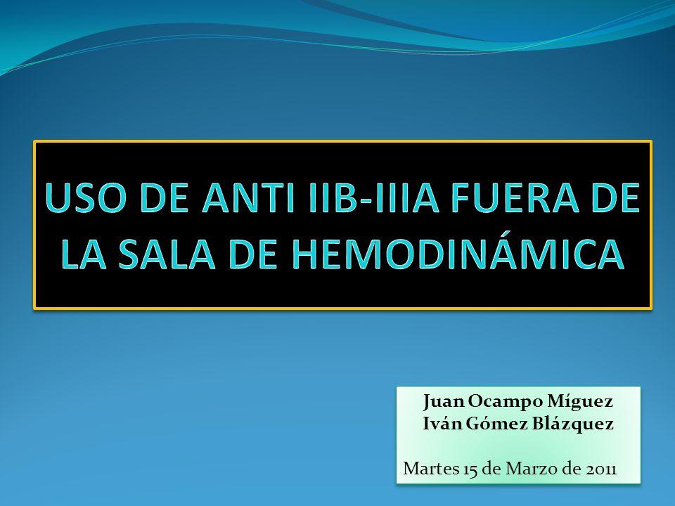 Se puede considerar bivalirudina como tratamiento anticoagulante de 1ª opción en pacientes con SCASEST que se someten a ICP, de la misma manera que HNF- antiIIb/IIIa