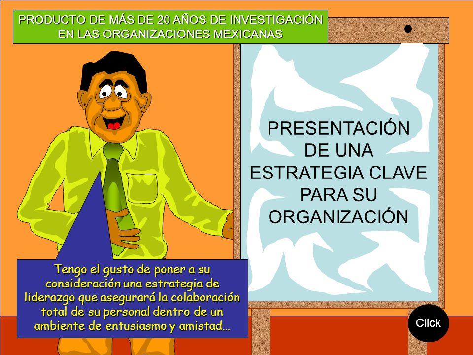 Seminario LIDERAZGO ONTOLÓGICO Especialmente diseñado para Responder a las necesidades de la cultura mexicana PRESENTACIÓN DE UNA ESTRATEGIA CLAVE PAR