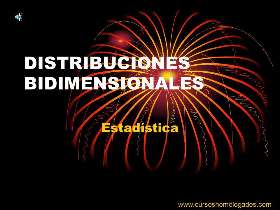 DISTRIBUCIONES BIDIMENSIONALES Estadística www.cursoshomologados.com