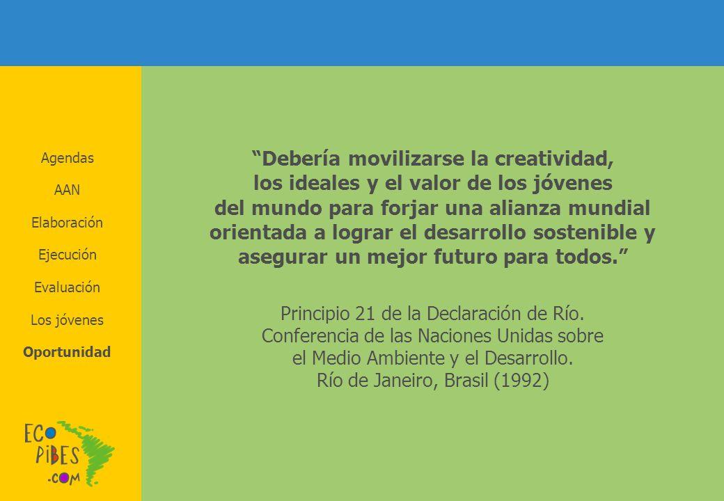 Debería movilizarse la creatividad, los ideales y el valor de los jóvenes del mundo para forjar una alianza mundial orientada a lograr el desarrollo s