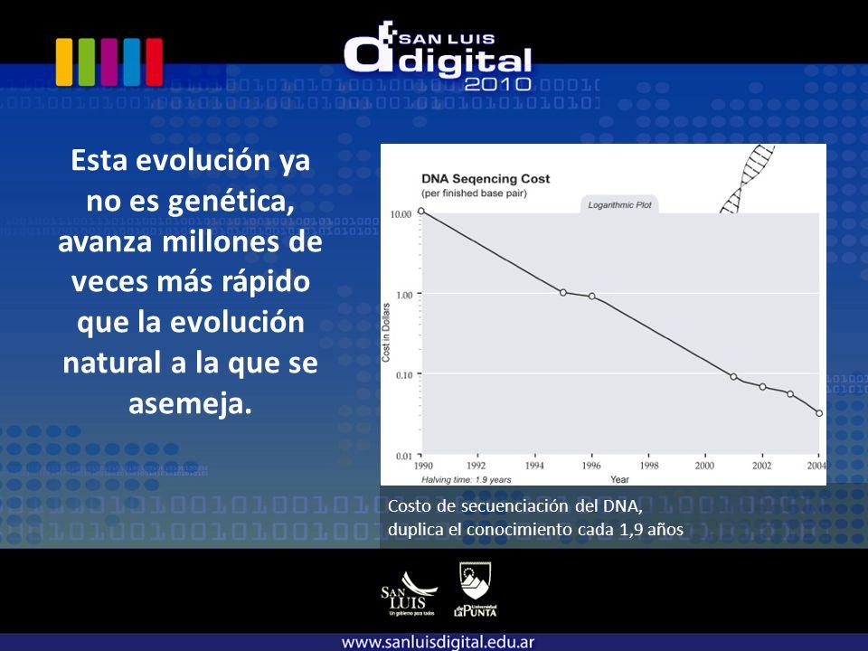 Esta evolución ya no es genética, avanza millones de veces más rápido que la evolución natural a la que se asemeja.