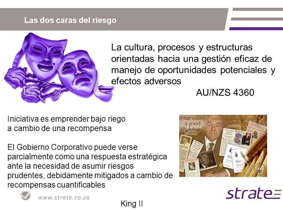 Las dos caras del riesgo La cultura, procesos y estructuras orientadas hacia una gestión eficaz de manejo de oportunidades potenciales y efectos adver